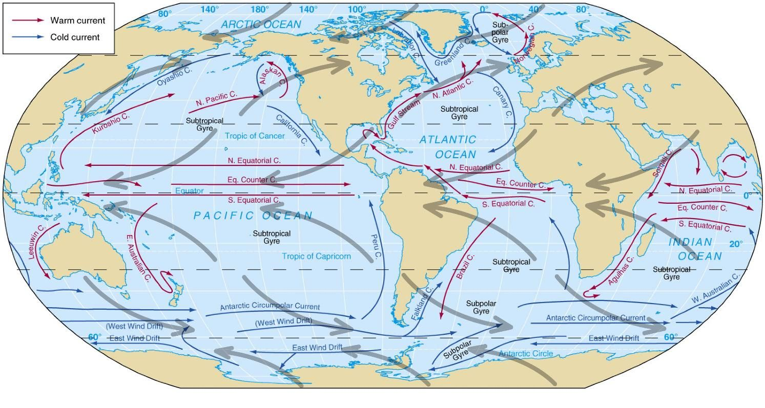 Winds And Currents World Maps Pinterest Simple Of And - Usa map oceans