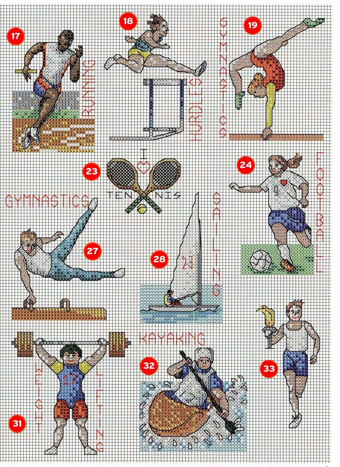 GRAFICOS PUNTO DE CRUZ GRATIS : DEPORTES | deportes | Pinterest ...