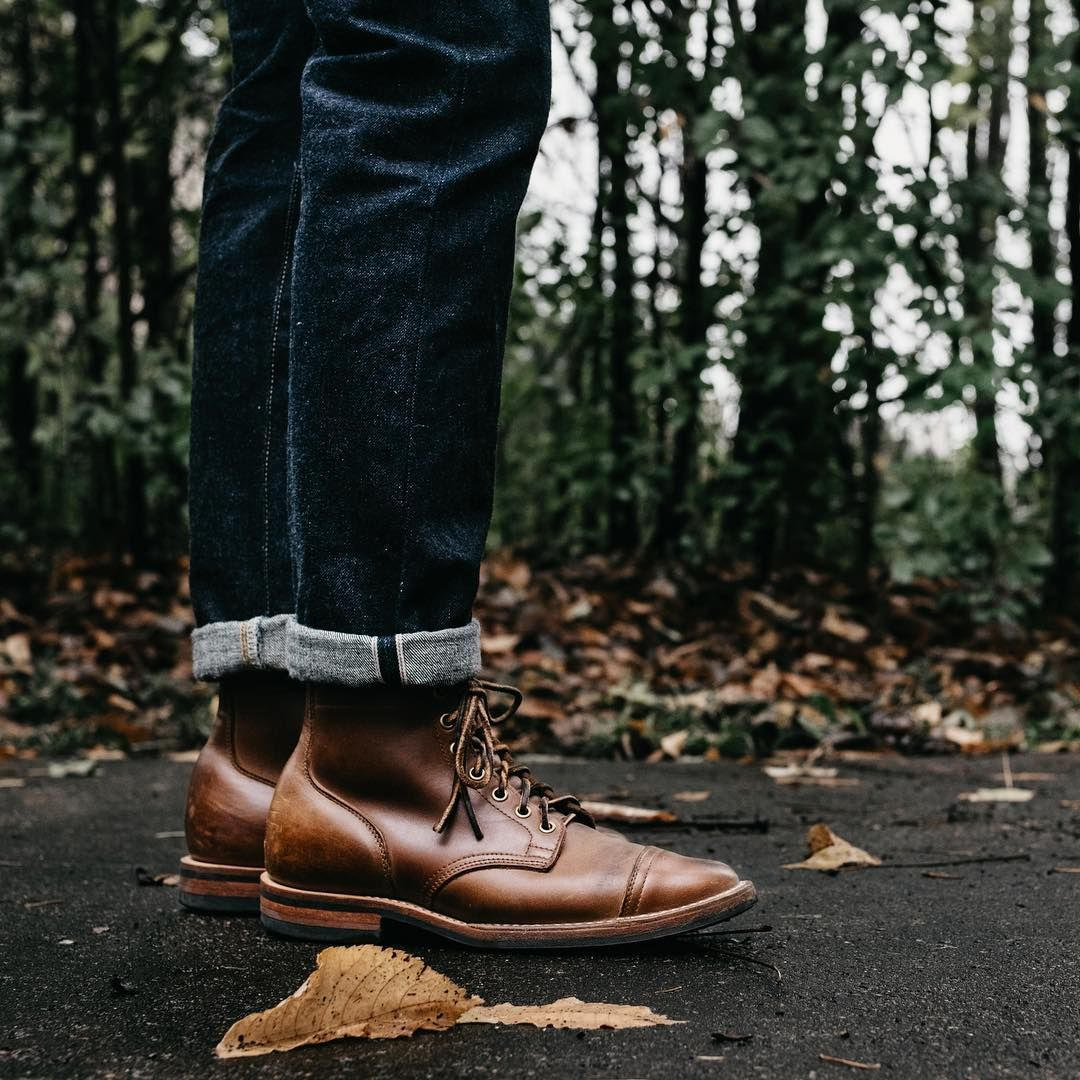 fdf78fb2b4d144 Viberg x Styleforum natural chromexcel cap toe boots with a great pair of  denim from  marvaments Follow  runnineverlong on Instagram for more  inspiration ...