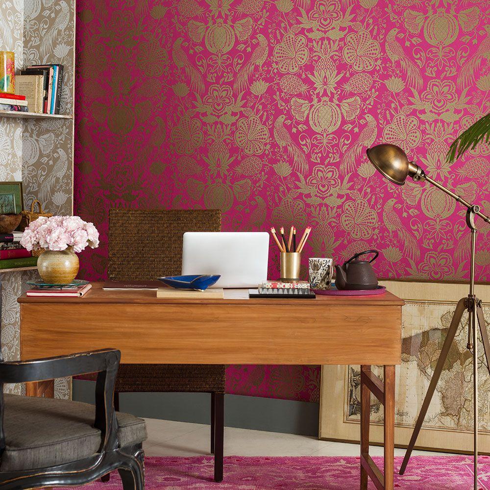 Damascus Crimson Nilaya Asian Paints Wall Designs Wallpaper Designs For Walls Wall Coverings