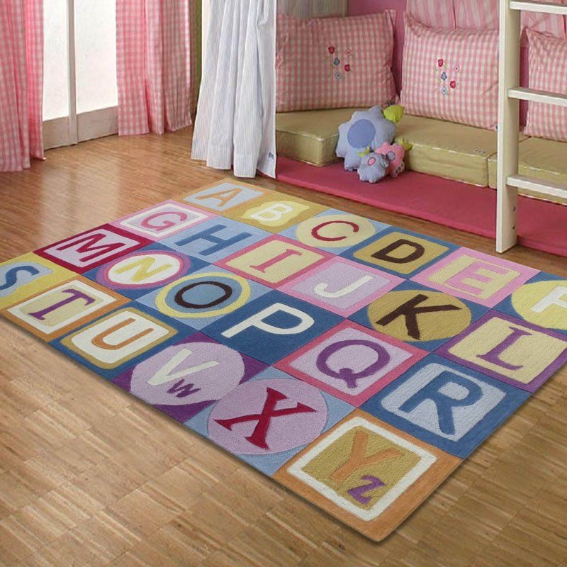 Rug Factory Zoomania Abc Kids Area Pink Zm002pn4b6