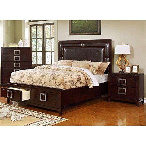 Furniture Of America Heffen 2 Piece King Panel Bedroom Set