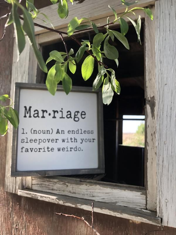 Marriage Definition | Rustic Style Wood Sign