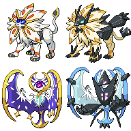 Made New Solgaleo And Lunala Sprites Edited Them To Have Their Necrozma Forms Forms Are Called Necrozma Dusk Mane Pokemon Pokemon Solgaleo Pokemon Characters