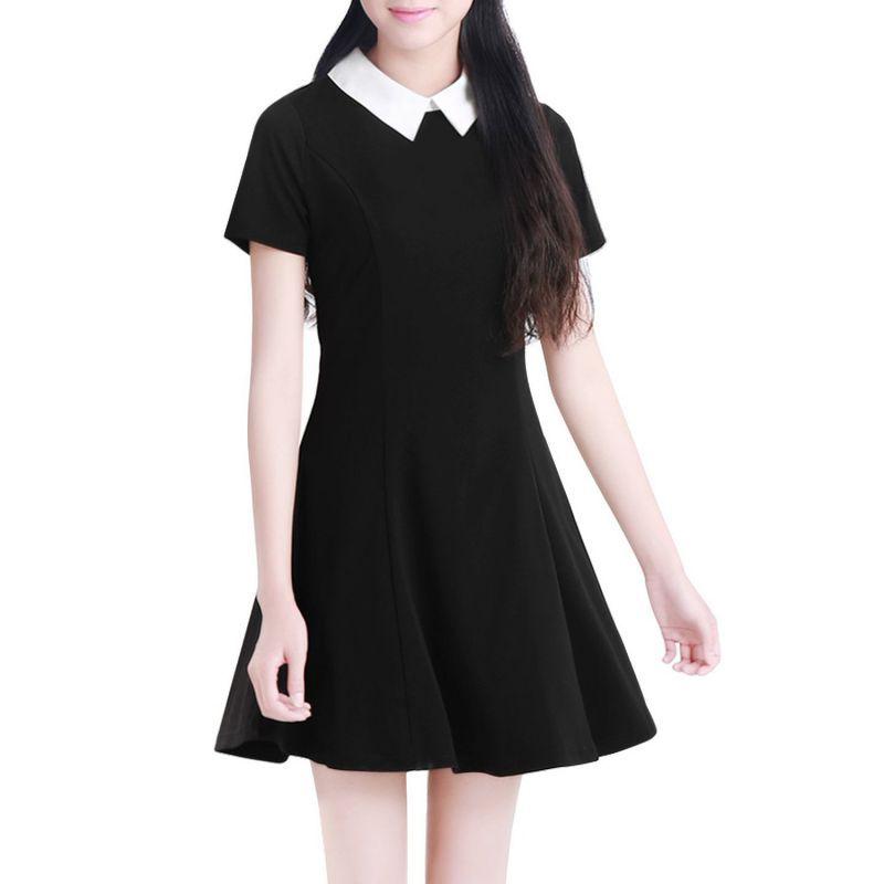 4656b32c00 Resultado de imagen para vestido negro de cuello blanco