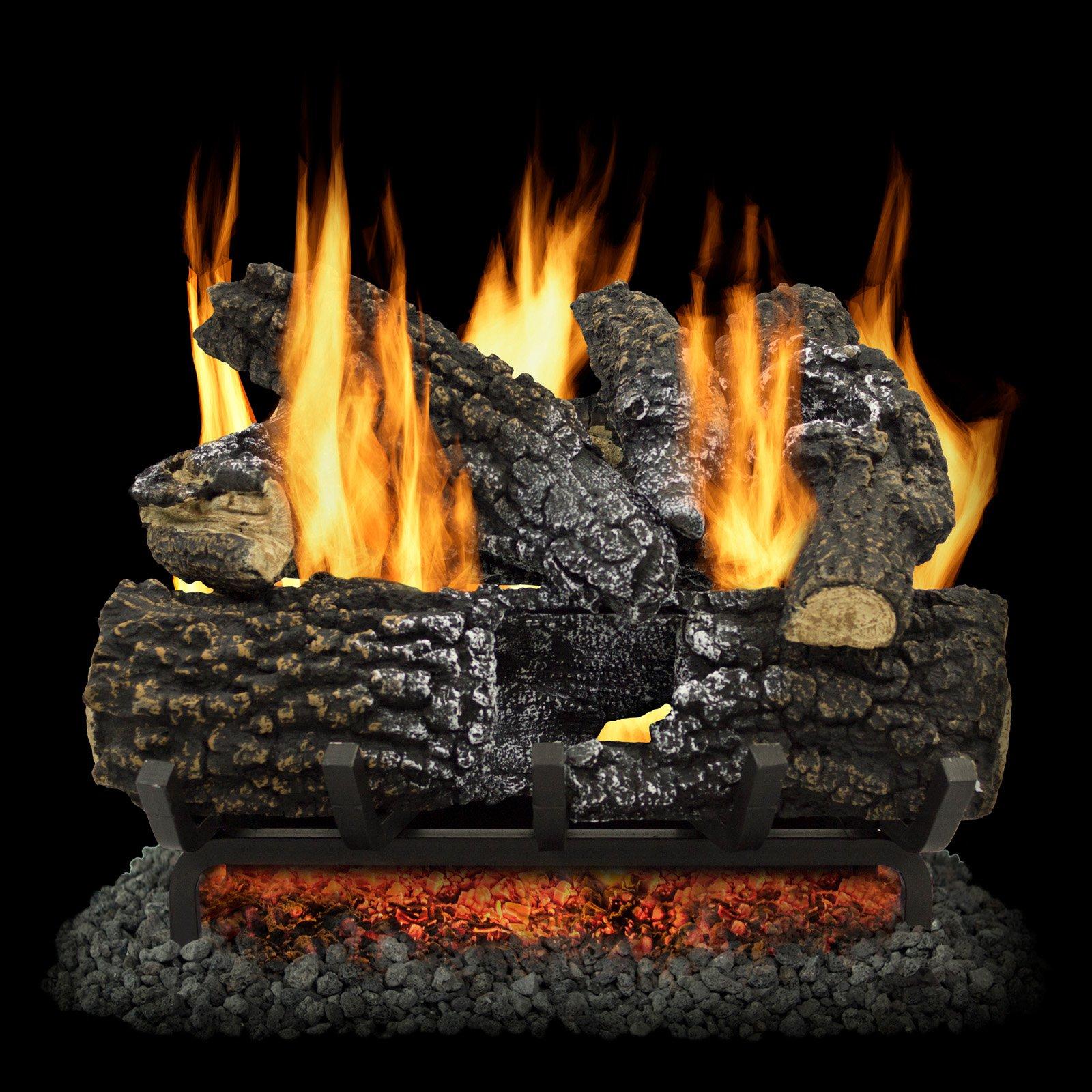 Pleasant Hearth Arlington Ash Vented Gas Log Set   Gas fireplace ...