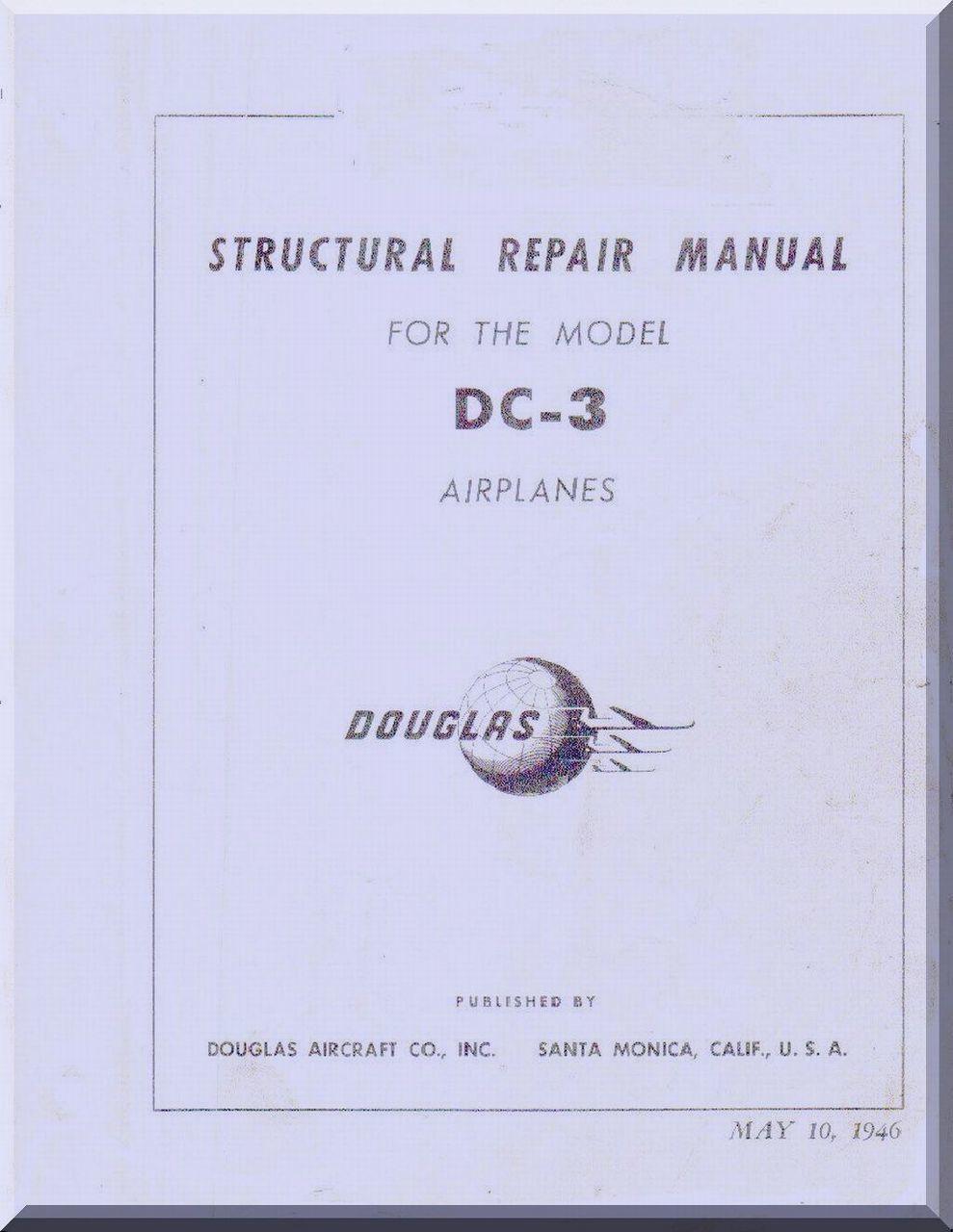 douglas dc 3 c aircraft structural repair manual 1946 repair rh pinterest com Structural Wood Repair Home Structural Repair
