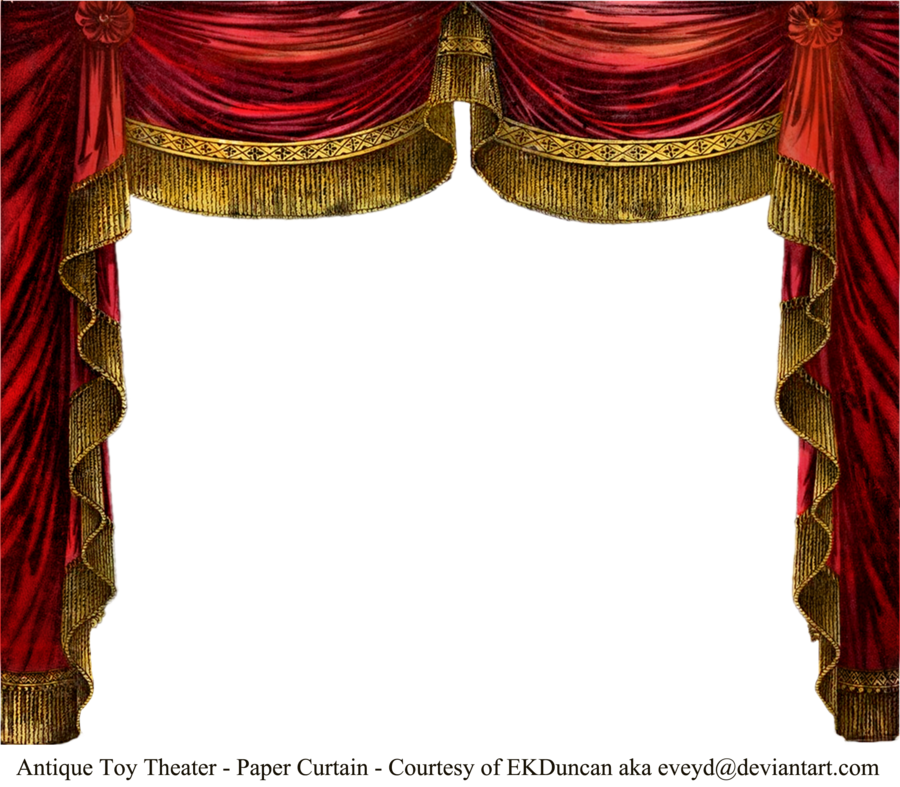 Antique Paper Theater Curtains By Eveyd On Deviantart Theatre Curtains Paper Theatre Antique Paper