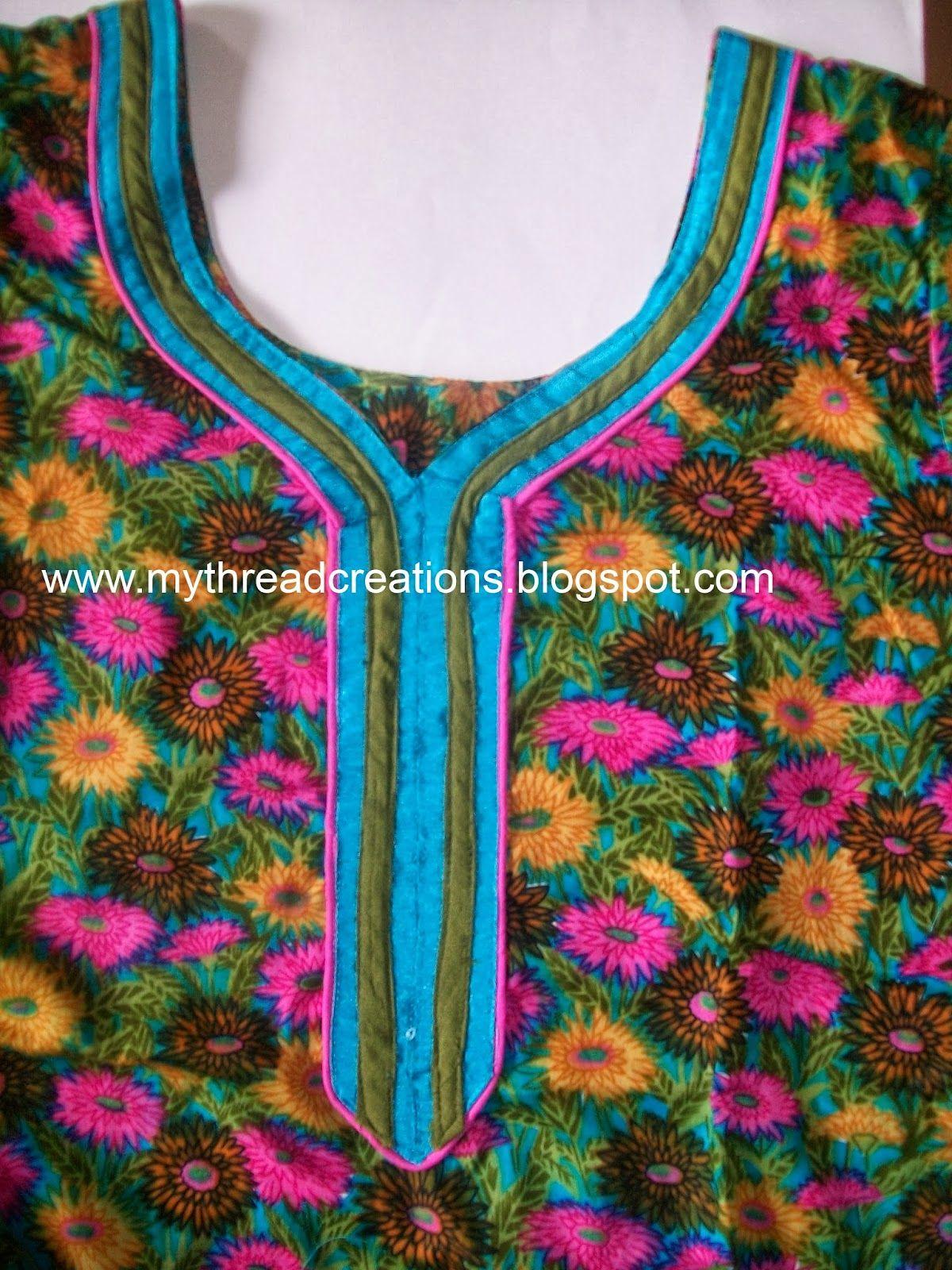 kurti neckline tutorial