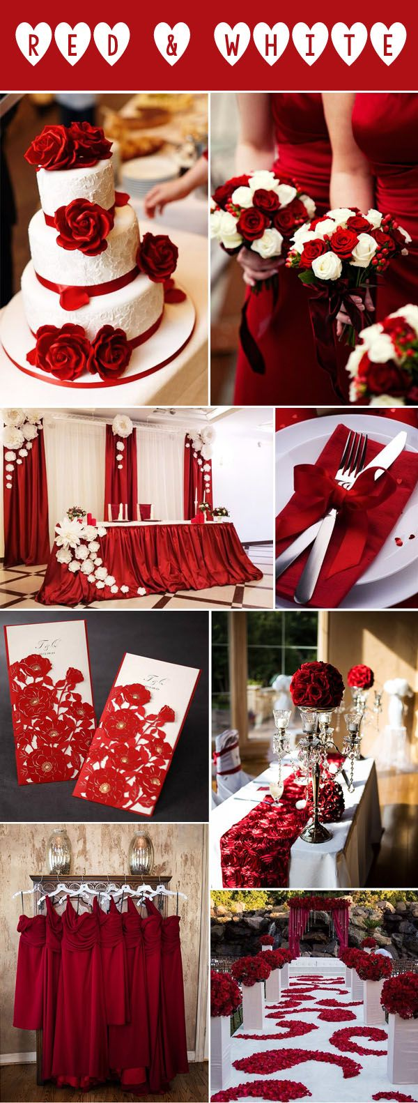 40 Inspirational Classic Red And White Wedding Ideas Red