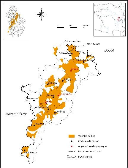 Map Of France Jura.Detailed Map Of The Jura Wine Region Wine And Education Wine