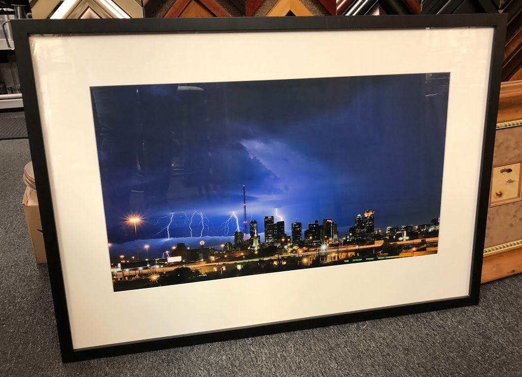 Dallas Skyline Lightning Picture $550 Bonrics Custom Framing and ...