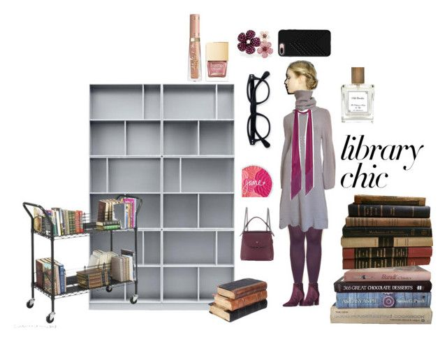 """library chic"" by erggoe ❤ liked on Polyvore featuring Nine West, Fendi, Ann Demeulemeester, Rockins, Rebecca Minkoff, Effy Jewelry and Safco"