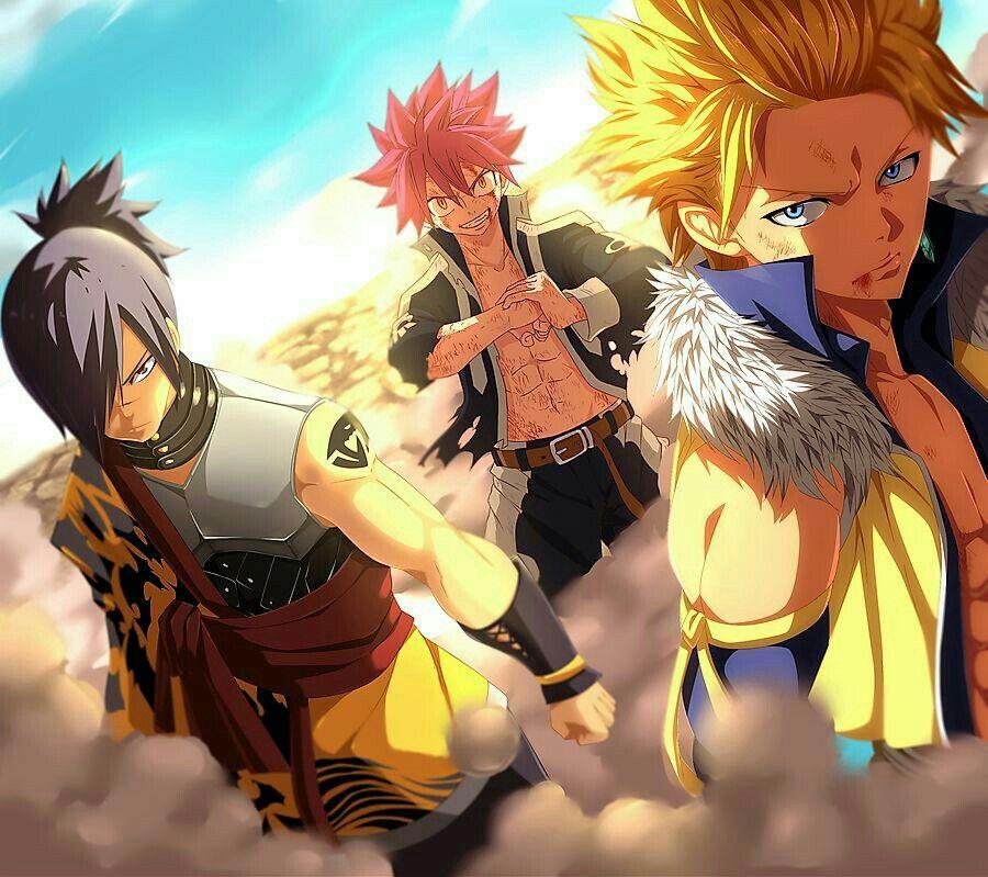 Fairy Tail Natsu, Sting, Rogue, Dragon Slayer's Anime