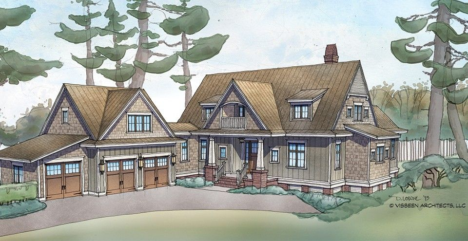 Low Country House Plan with 3238 Square Feet and 5 Bedrooms from