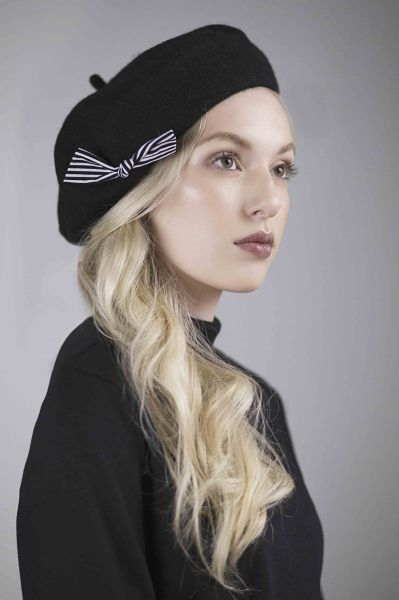 8302e3d611680 Wool Beret BY MAGGIE MOWBRAY  millinery  hats  HatAcademy. Find this Pin  and more on Sombreros y tocados ...