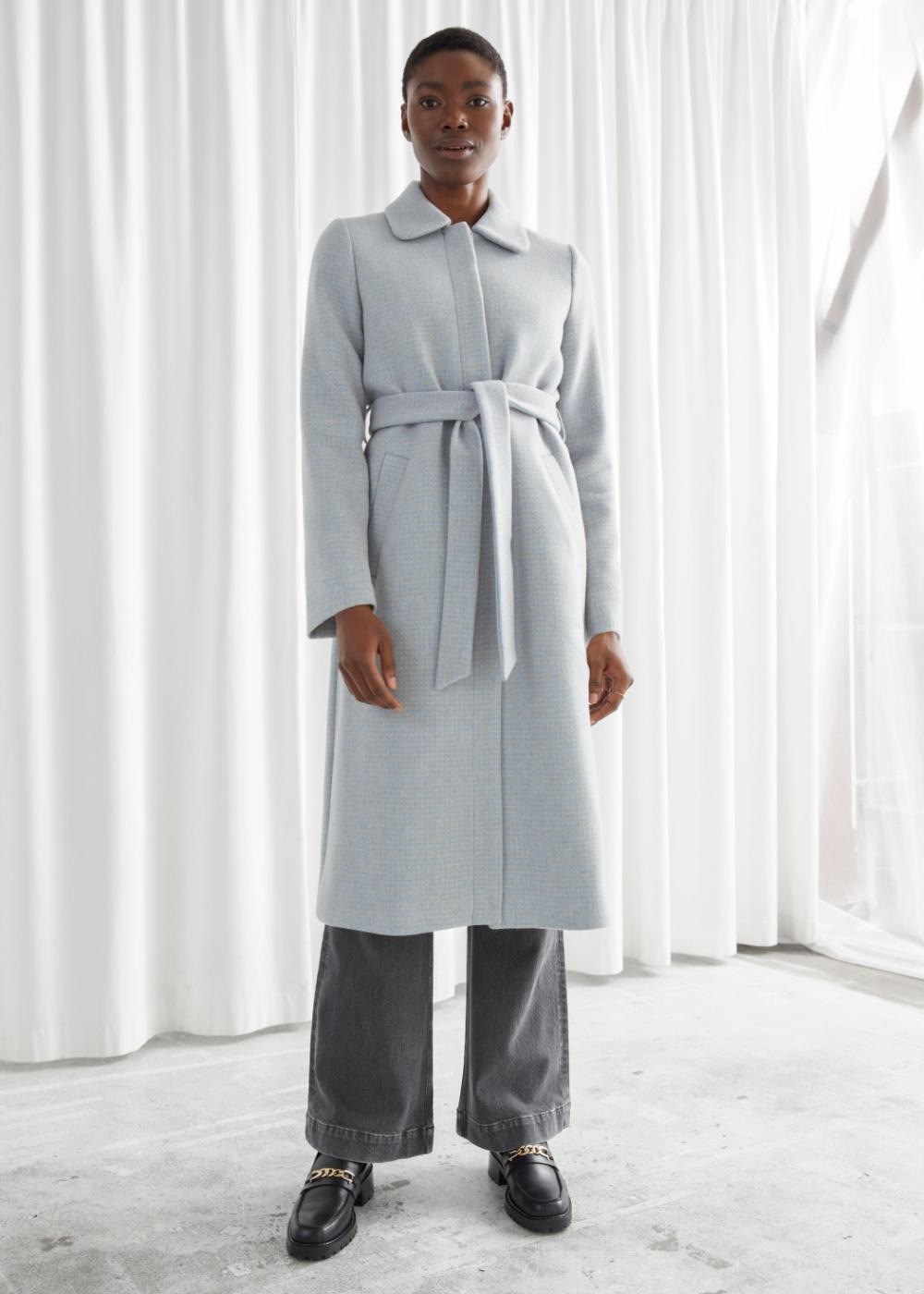 Belted Wool Blend Coat Coat Fashion Story Vintage Coat [ 1400 x 1000 Pixel ]