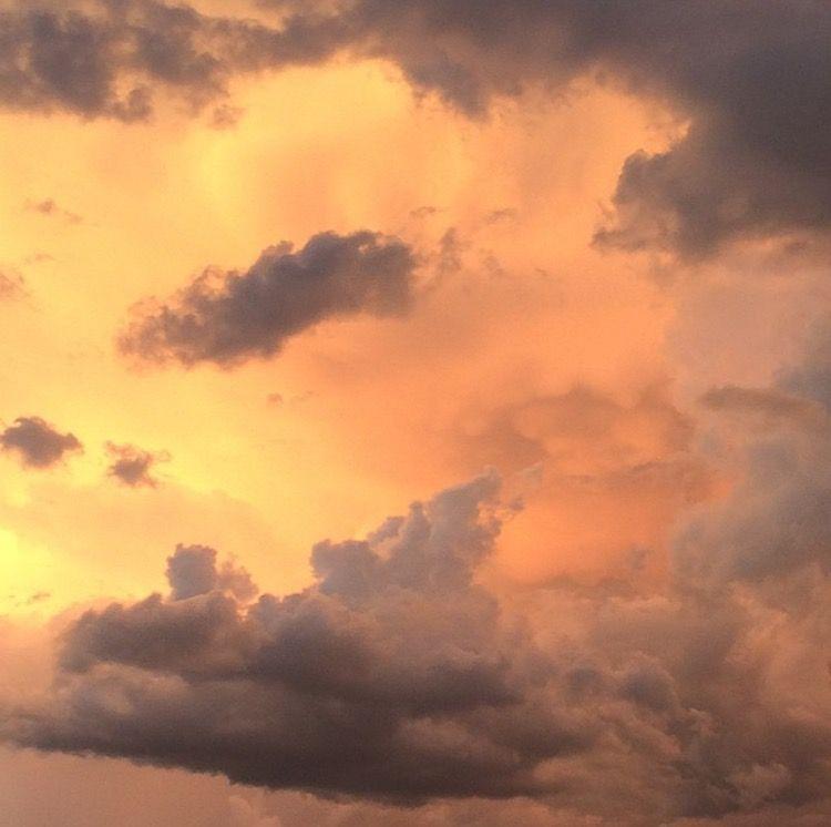 // billiedonald //   the sky   Peach aesthetic, Orange ...