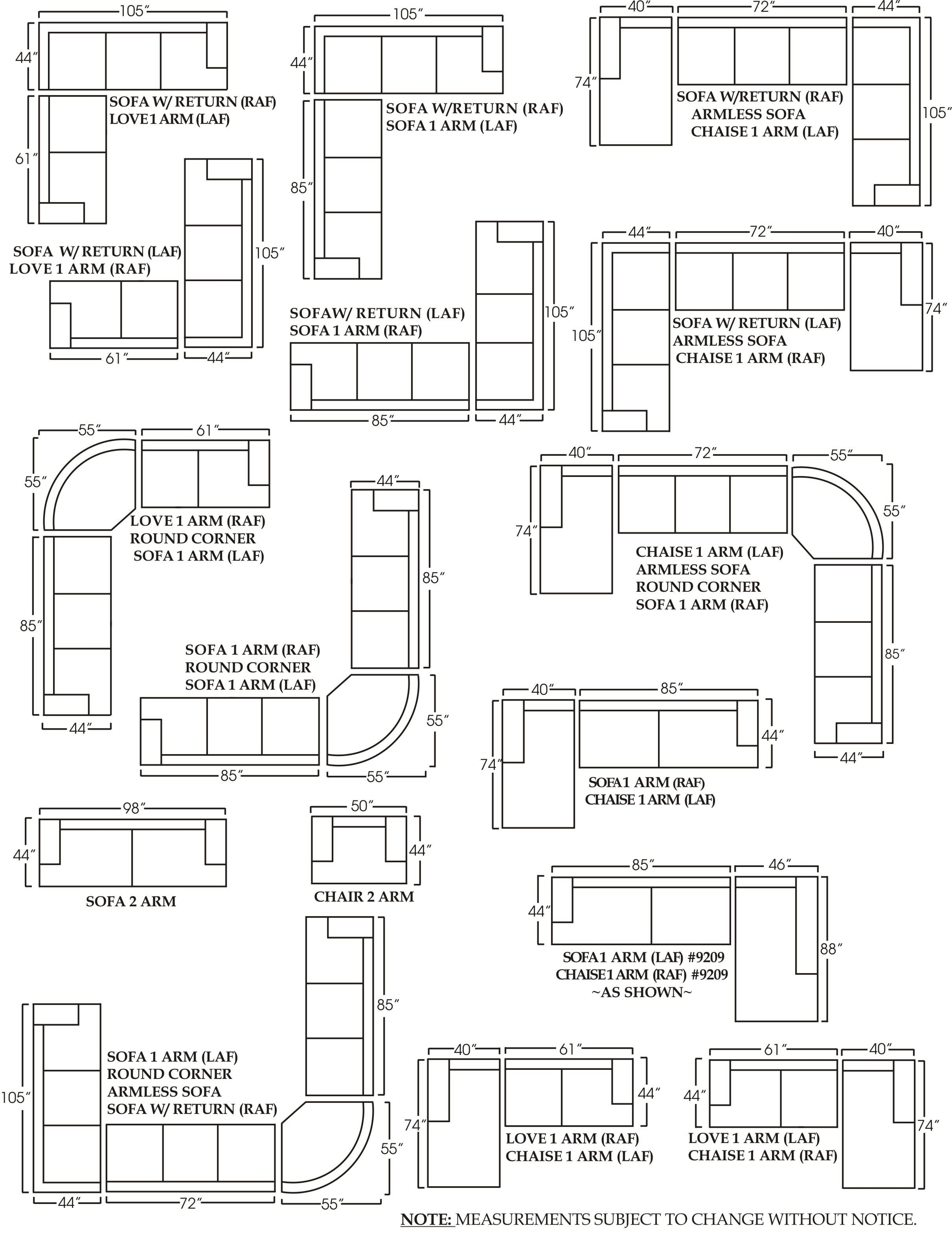 Measurements Sectional Sofas L Shaped Sofa Sofa Dimension Sectional Couch Layout