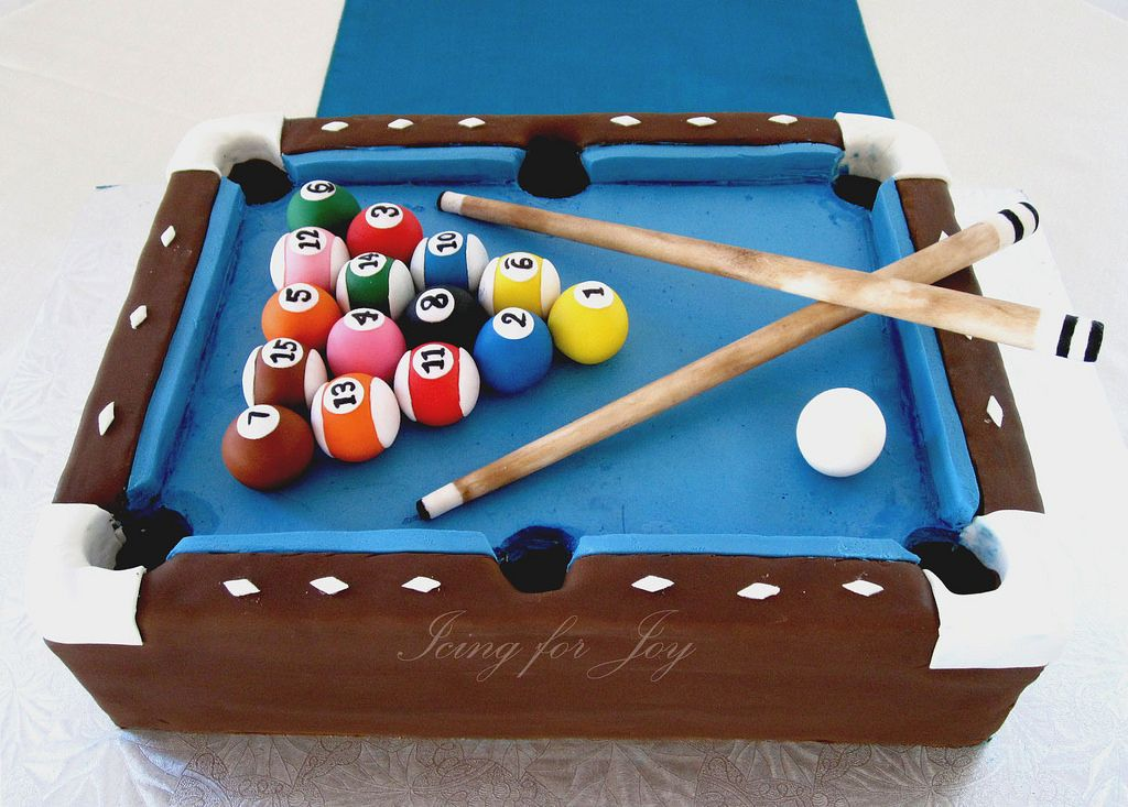Pool Table Cake For Groomu0027s Cake   Flickr   Photo Sharing!