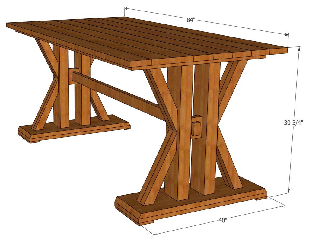 French Farmhouse Dining Table Farmhouse Table Plans Woodworking