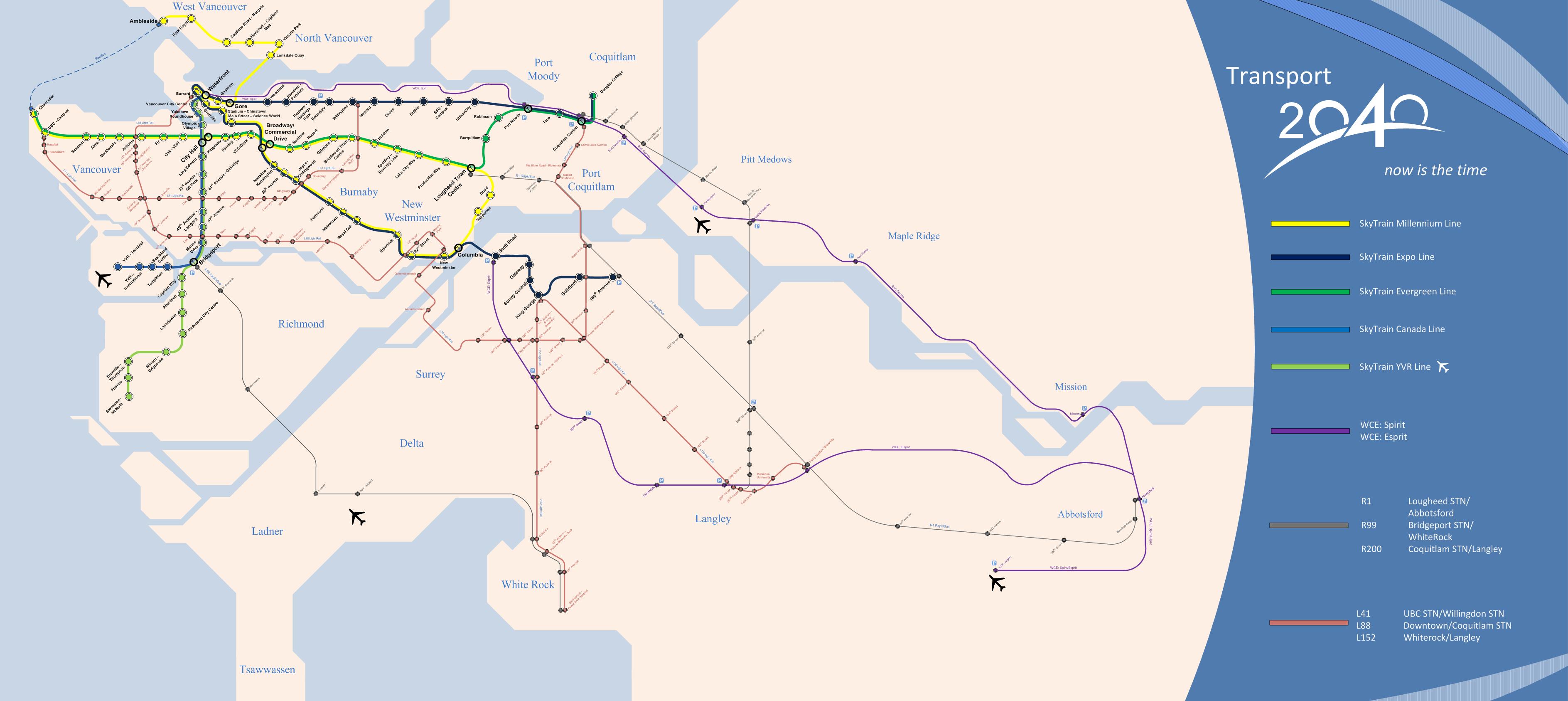 Vancouver Subway Map.Vancouver Transit 2040 Fantasy Map Transit In 2019 Fantasy Map