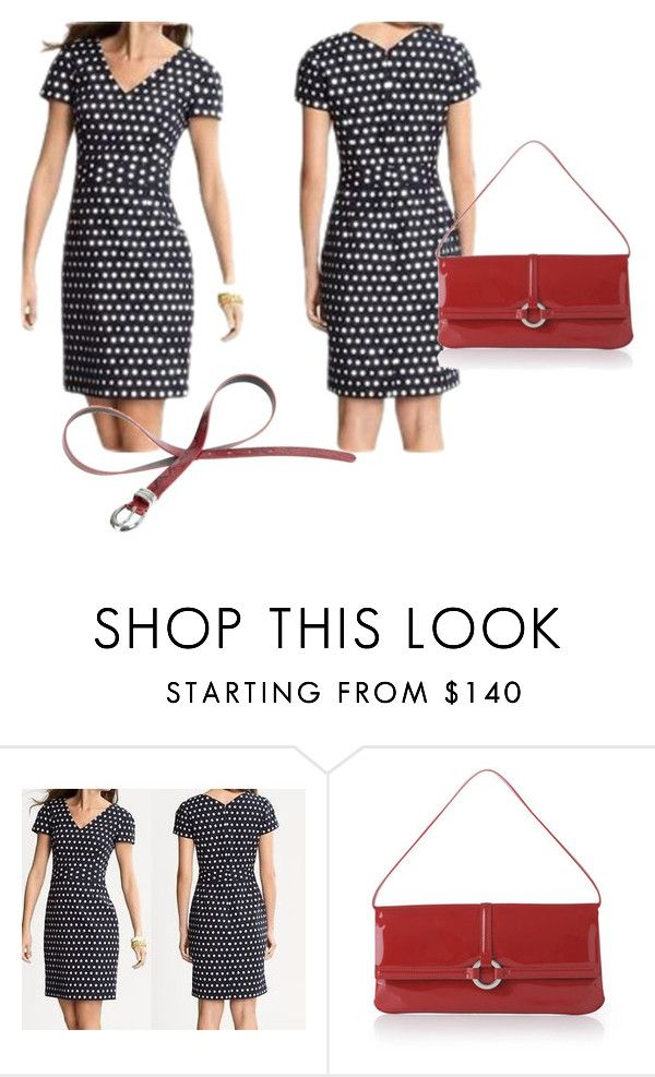 """""""Memorial Day Red White and Blue"""" by eunicehur ❤ liked on Polyvore featuring Banana Republic, L.K.Bennett and The Collection"""