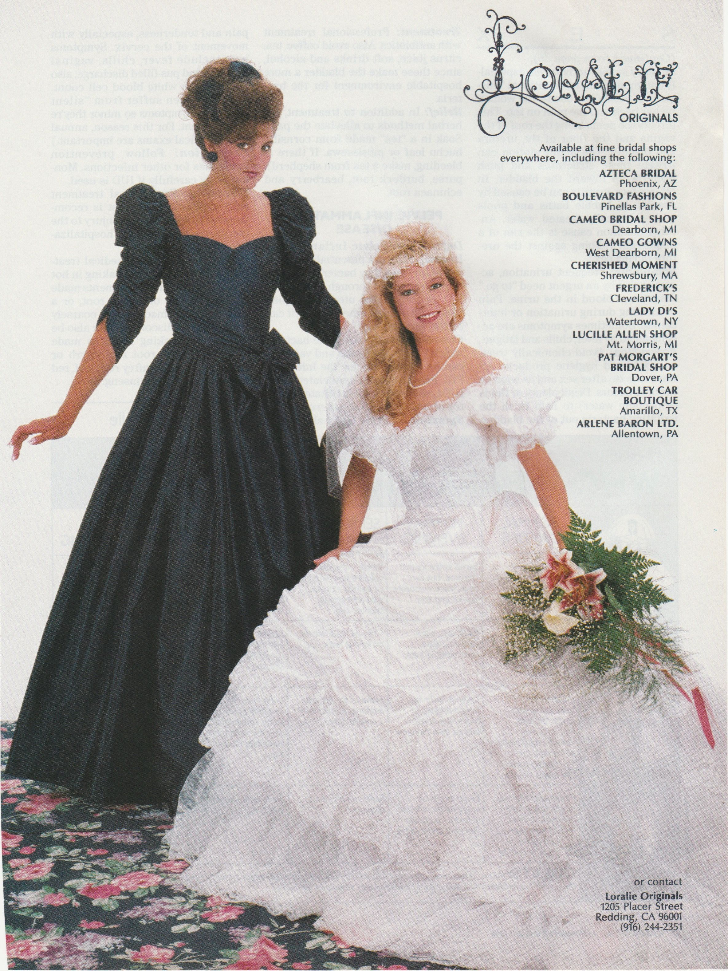 From Jan Feb 1989 Bridal Guide 80 S And 90 S Bridal Wedding