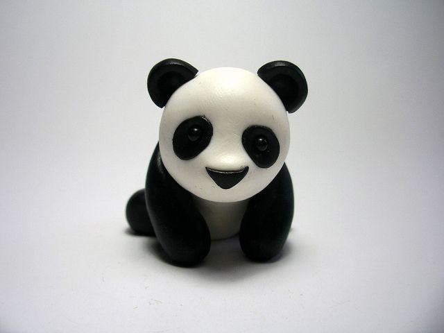wee panda pandas pinterest fimo fimo ideen und basteln. Black Bedroom Furniture Sets. Home Design Ideas