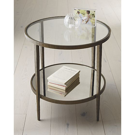 Clairemont Round Side Table Reviews Crate And Barrel Glass