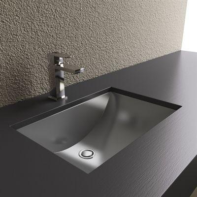 Cantrio Koncepts Ms 012 Steel Series Stainless Steel Bathroom Sink