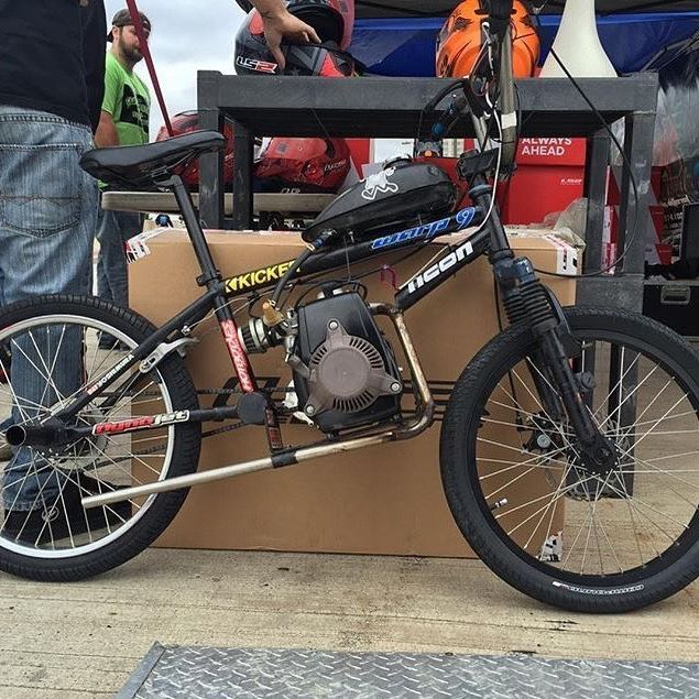 A 4 Stroke Build On A Bmx Bike Is Hard Enough But A 4 Stroke Bmx Build That Wil Bmx Bikes Gas Powered Bicycle Powered Bicycle