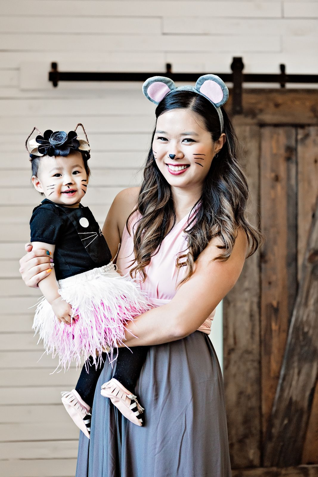 cat and mouse halloween costume pairing on trend tuesdays linkup