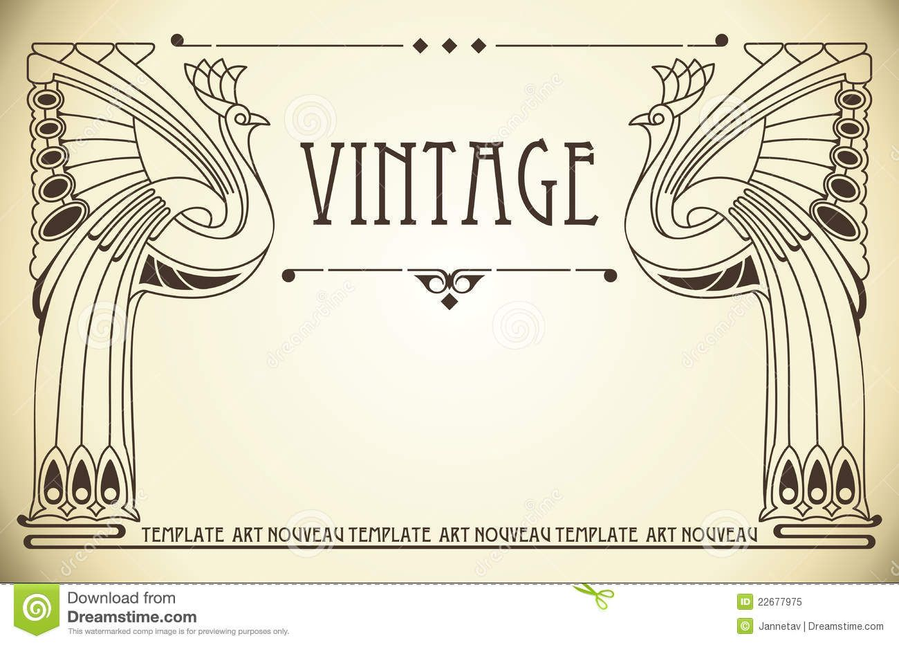 All graphics newest royalty free stock photos stock illustrations - Vintage Background In Art Nouveau Royalty Free Stock Photo Image 22677975