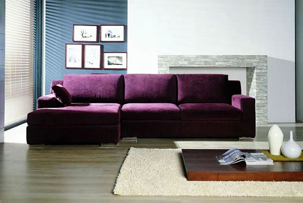 donu0027t know why I love the idea of a purple couch so much! : purple sectional couch - Sectionals, Sofas & Couches