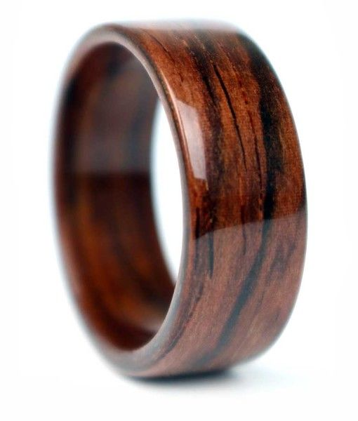 Wow! Made from salvaged xylophone & marimba keys from Chicago - Rosewood Ring