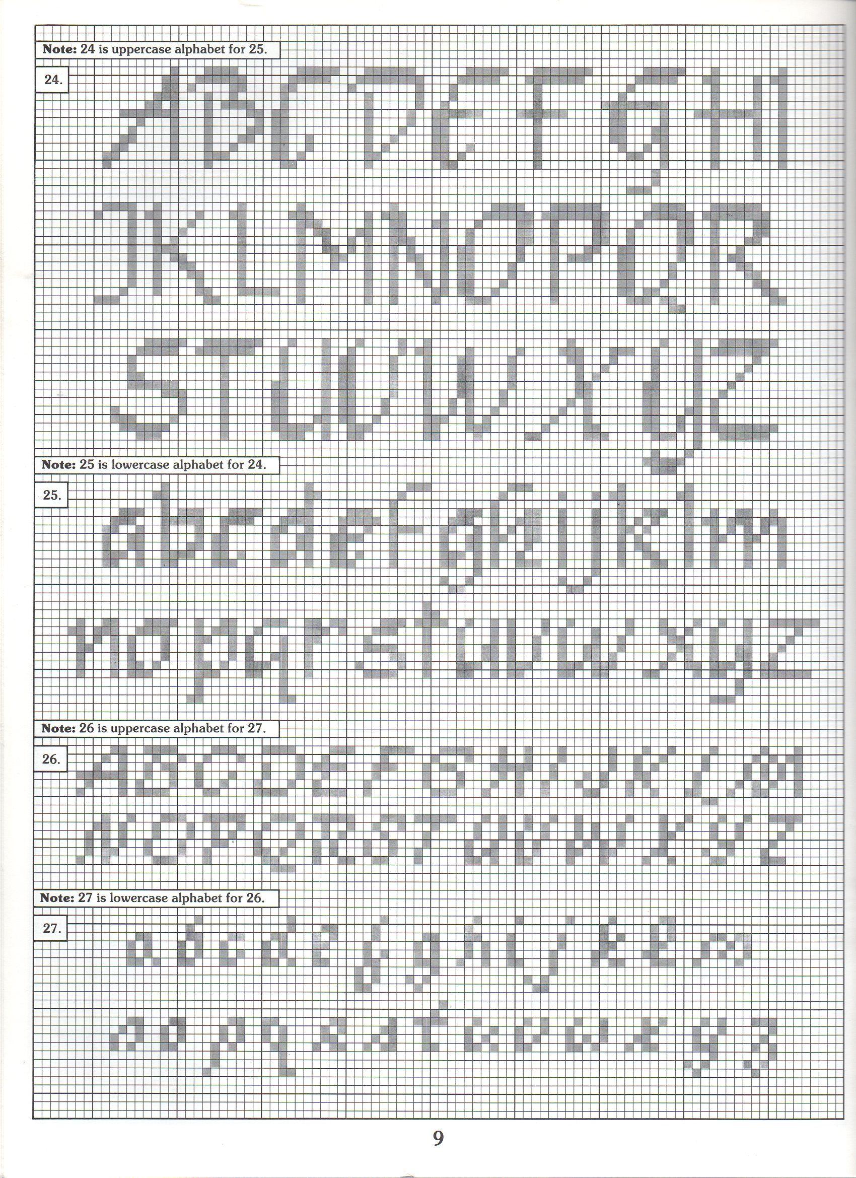 ALPHABET PATTERNS | crafts and DIY | Pinterest | Kreuzstich ...