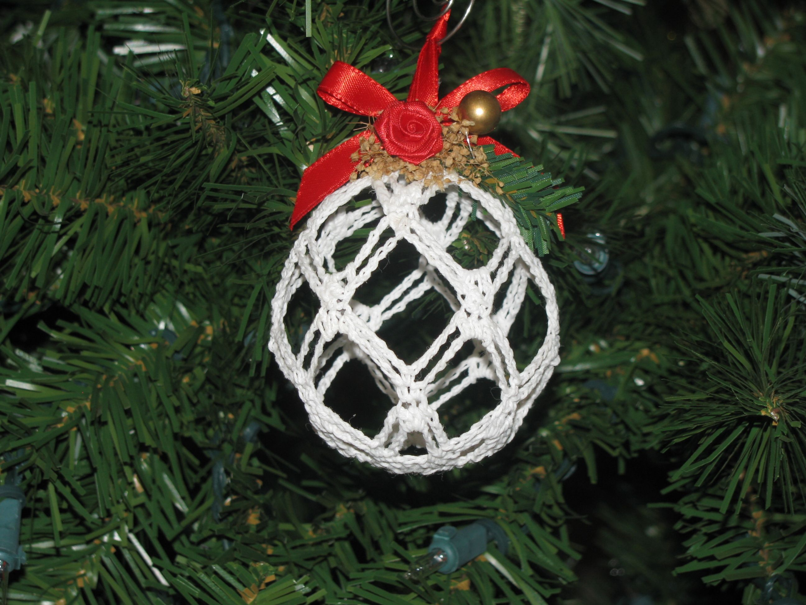 Large Open Work Pattern Of One Of The Handmade Crocheted Christmas Ornaments De Christmas Ornaments Traditional Christmas Ornament Crochet Christmas Ornaments