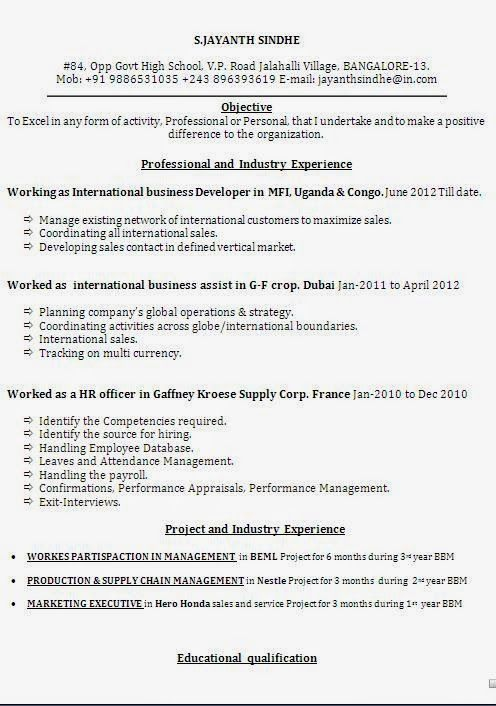 cv for example sample template example ofexcellent curriculum vitae    resume    cv format with