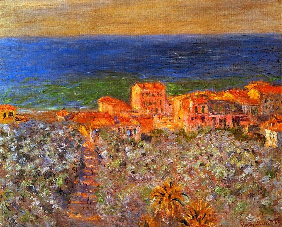 Burgo Marina at Bordighera, 1884, Claude Monet