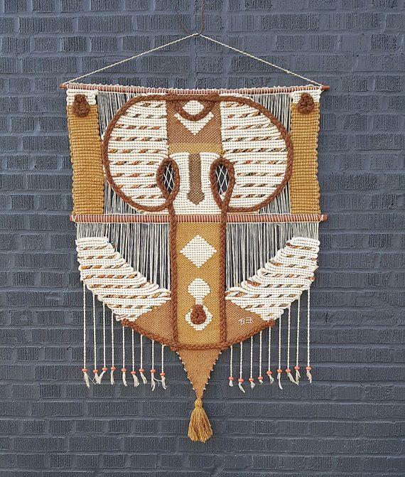 Vintage bohemian-style textile weaving.