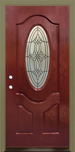 AG-930 3/4 Oval Lite Prehung Pefin. Fiberglass Door 36  x & AG-930 3/4 Oval Lite Prehung Pefin. Fiberglass Door 36