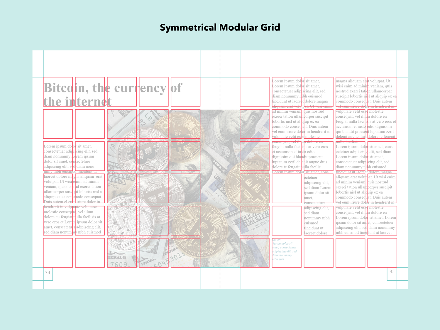 Layout Design Types Of Grids For Creating Professional Looking Designs Visual Learning Center By Visme In 2020 Grid Design Layout Grid Graphic Design Course