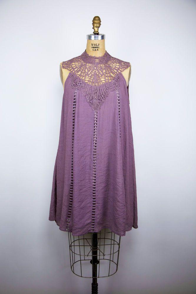 ENTRO Lavender/Mauve Hobo Boho Lace/Crochet Bridesmaid/Party ...