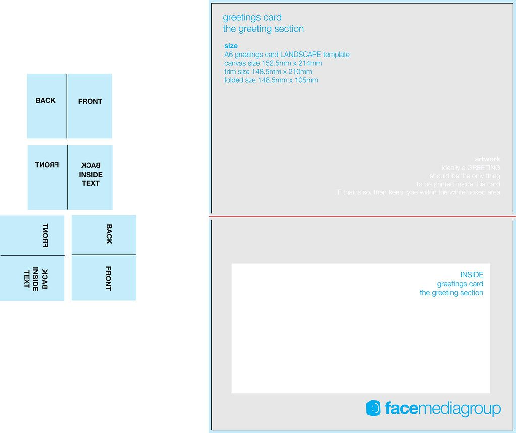 A6 Landscape Greetings Card Template Tent Fold Inside Inside Indesign Birthday Card Template Cumed Org