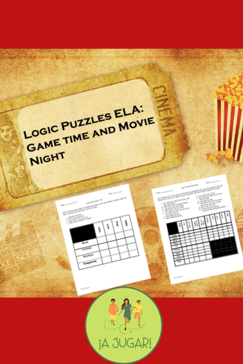 Game Time and Movie Night Logic Puzzles (ELA) in 2020