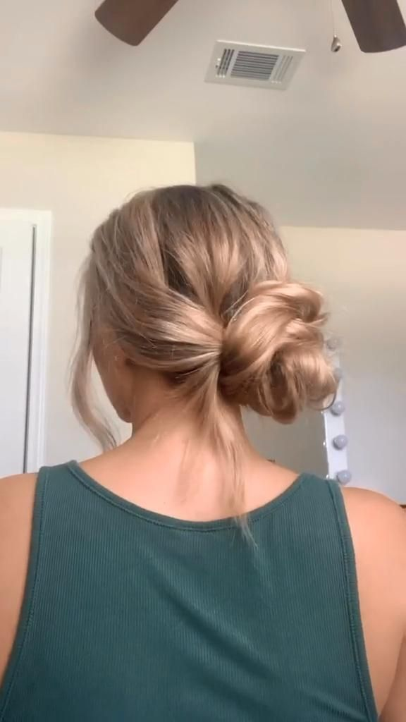 Hairstyles Cute Easy Hairstyle Hairstyles For Short Hair Tutorial Video In 2020 Hair Styles Long Hair Styles Hair Tutorial