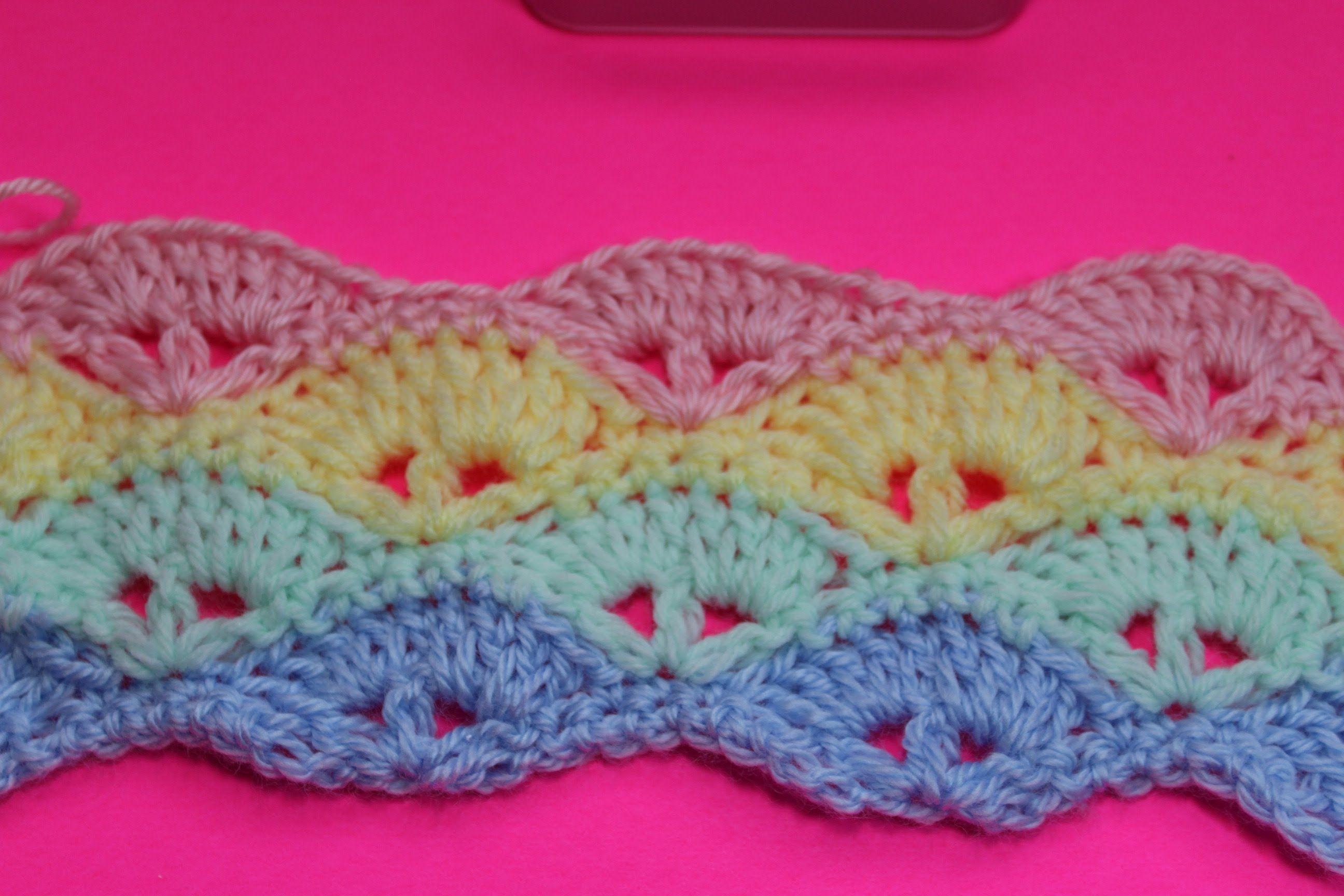 Learn To Crochet Baby Blanket Pattern Subtitulos En