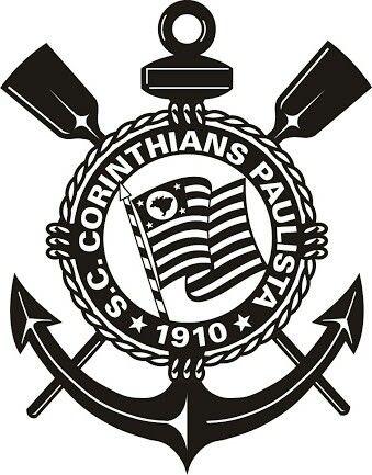 Preto E Branco Simbolo Do Corinthians Emblema Do Corinthians