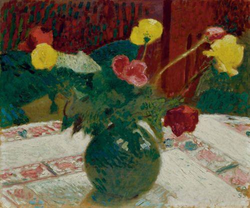 Cuno Amiet Swiss 1868 1961 Stillleben Mit Mohnblumen Still Life With Poppies 1955 Oil On Hardboard Flower Painting Flower Art Impressionism Painting